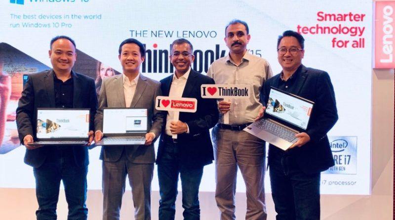 Đại diện Lenovo và Intel trong buổi ra mắt sản phẩm ThinkBook 14,15 mới