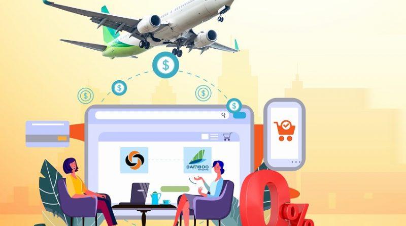 Mua trả góp vé máy bay Bamboo Airways lãi suất 0% qua ngân lượng.vn