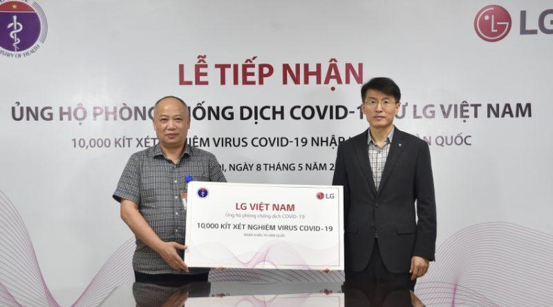 LG tài trợ Bộ Y Tế Việt Nam 10.000 bộ kit xét nghiệm Covid-19